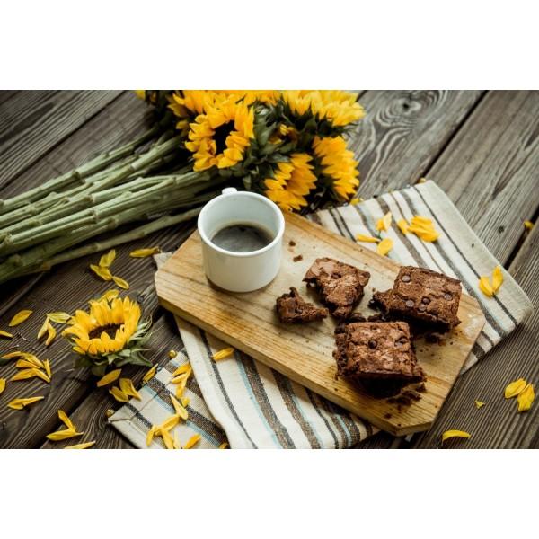 Magic Brownie Bite + Tea
